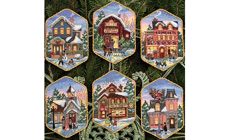 Christmas Village Ornaments (8785)