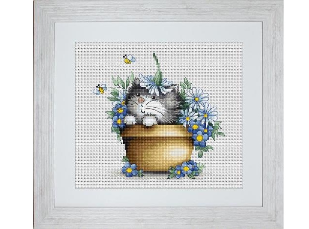 .Kitten in Flowers (Luca-S B1048)