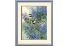 Chickadees and Lilacs (35258)