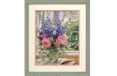 Peonies and Delphiniums (35257)