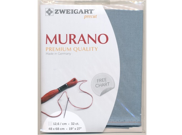 Evenweave Murano (32 ct). Sp. Blue Grey (5106), 48x68 cm