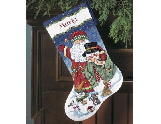 "Kojinė ""Santa and Snowman Stocking"" (8714)"